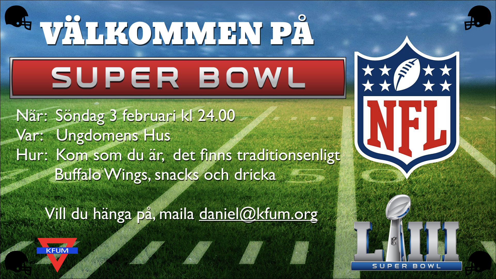 Super Bowl på KFUM!